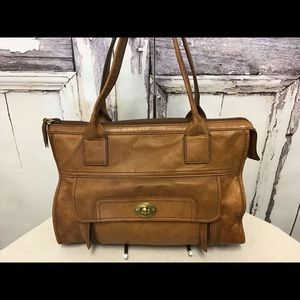 Fossil Brown Leather Stanton Satchel